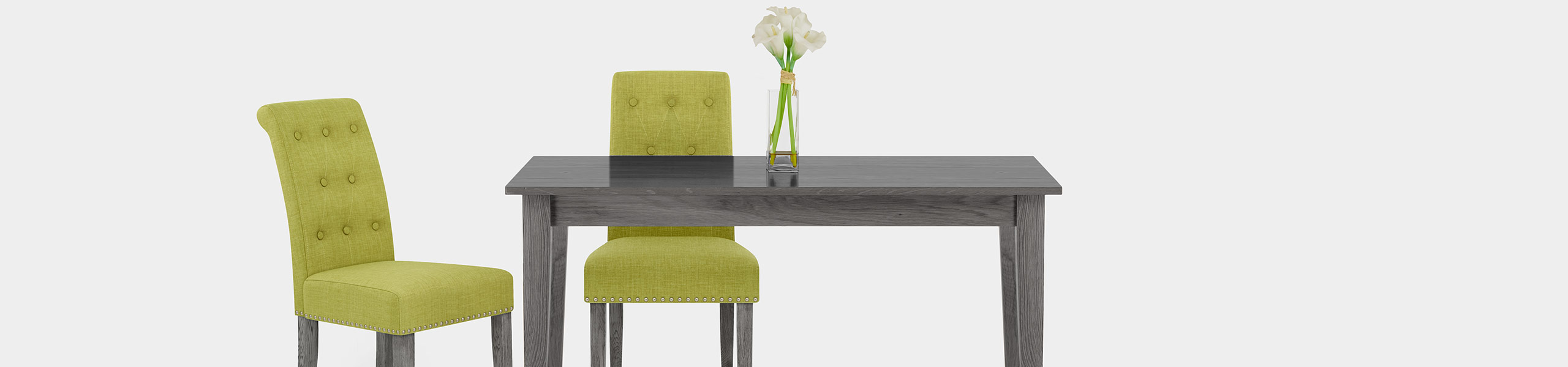 Moreton Dining Chair Green Fabric Video Banner