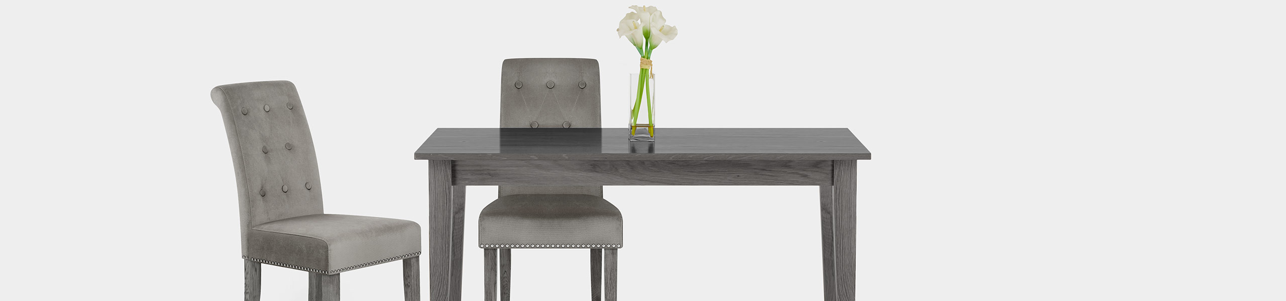 Moreton Dining Chair Grey Velvet Video Banner