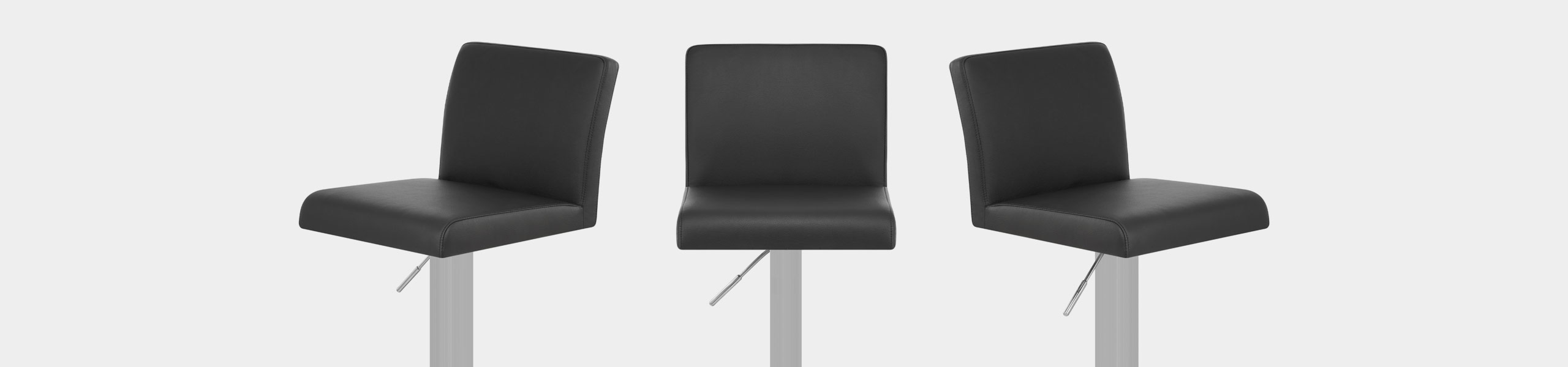 Newark Brushed Bar Stool Black Video Banner