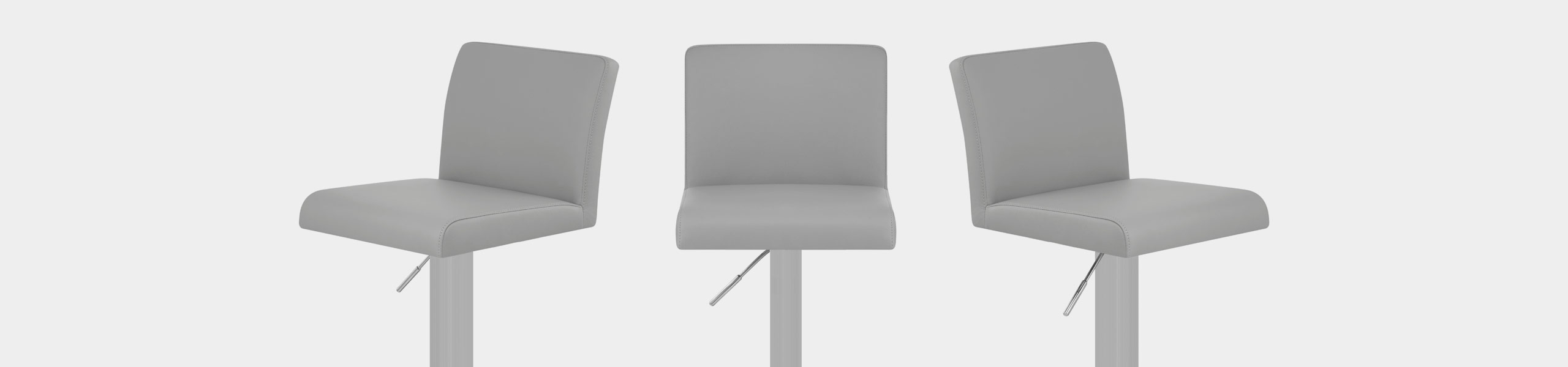 Newark Brushed Bar Stool Grey Video Banner