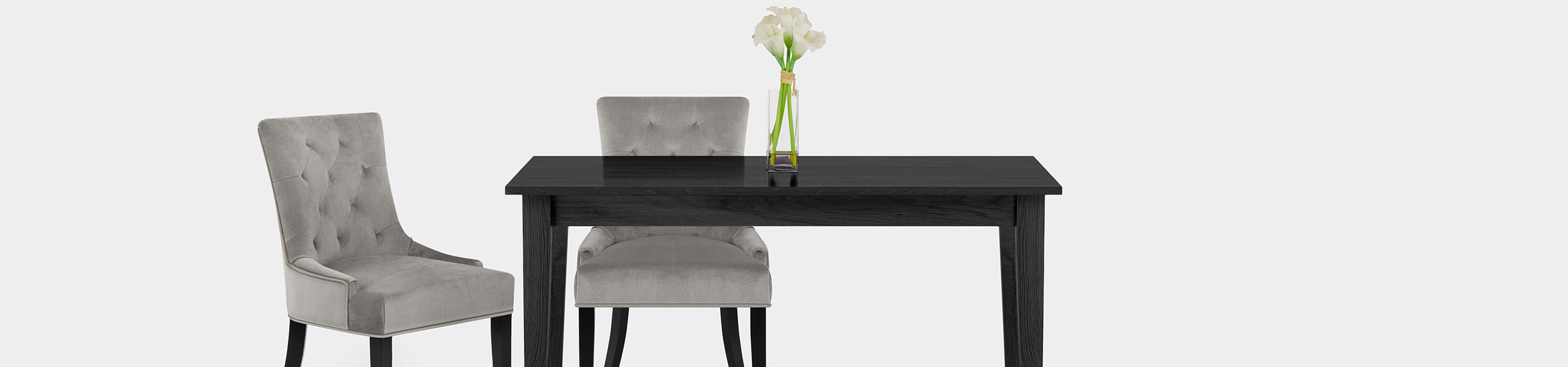 Newbury Dining Chair Grey Velvet Video Banner