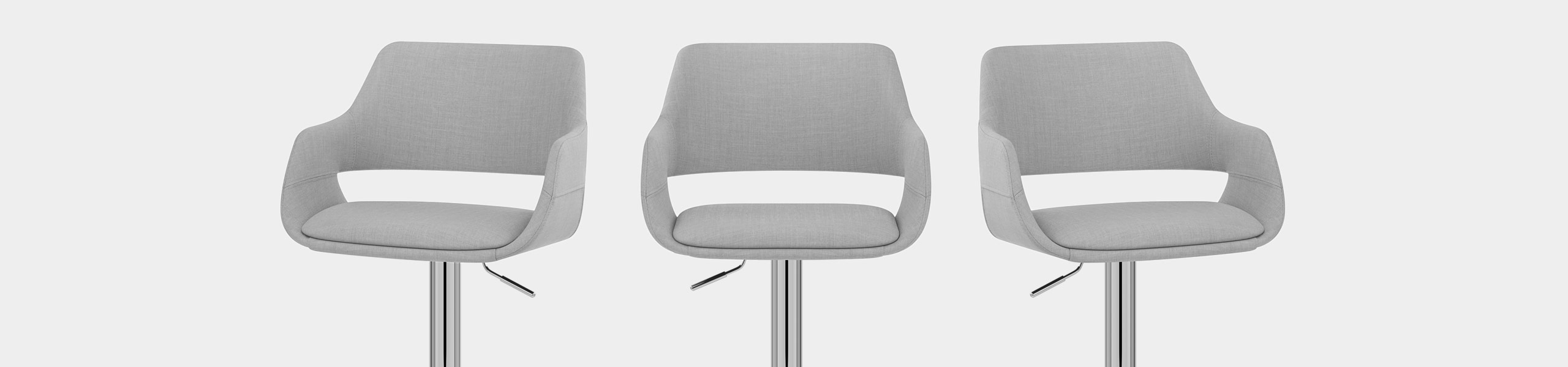 Nuevo Bar Stool Grey Fabric Video Banner