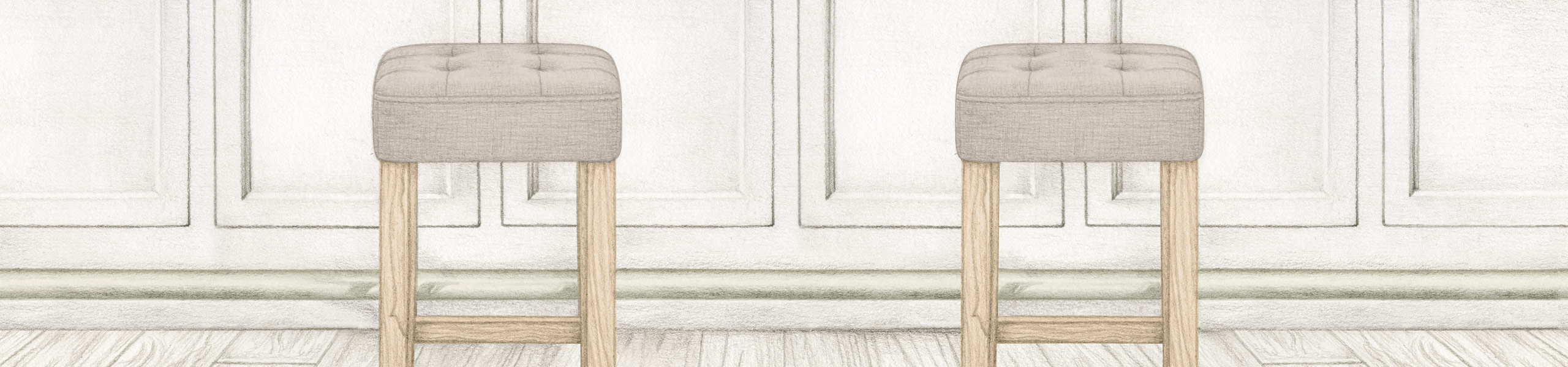 Oliver Oak Stool Tweed Fabric Video Banner