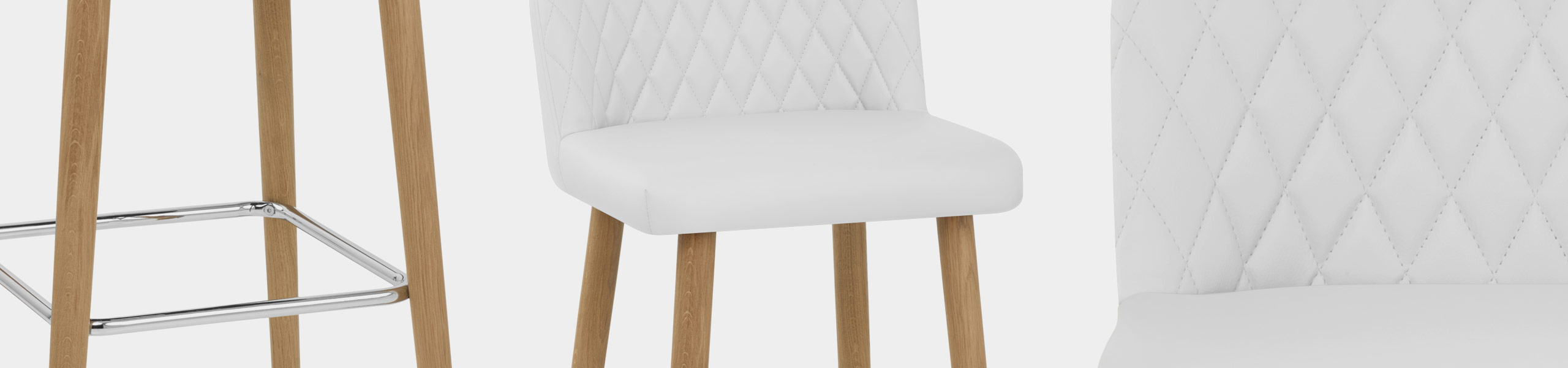Pacific Wooden Stool White Video Banner