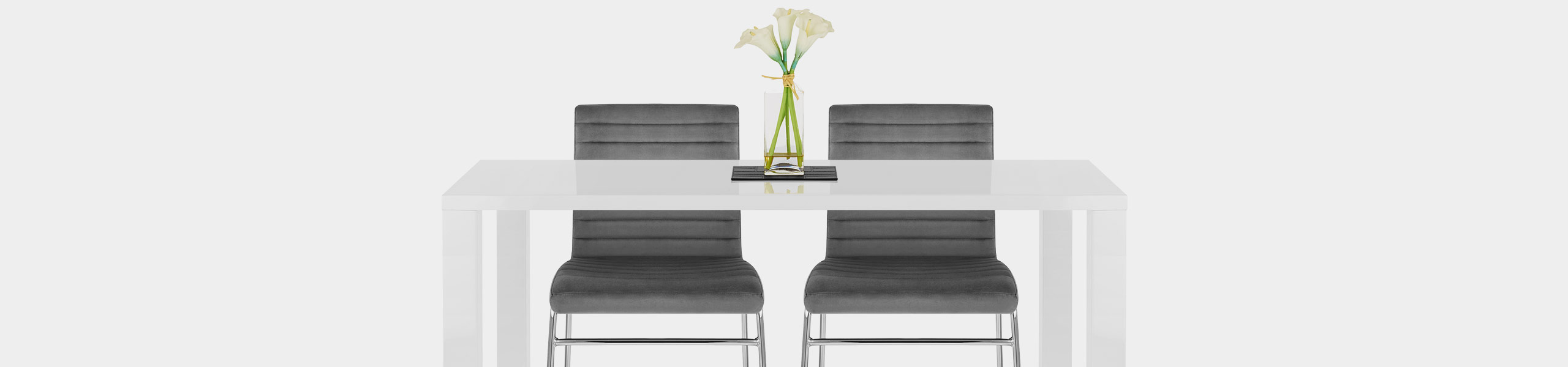 Panache Dining Chair Grey Velvet Video Banner