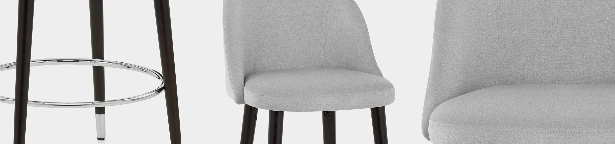 Polo Bar Stool Grey Fabric Video Banner