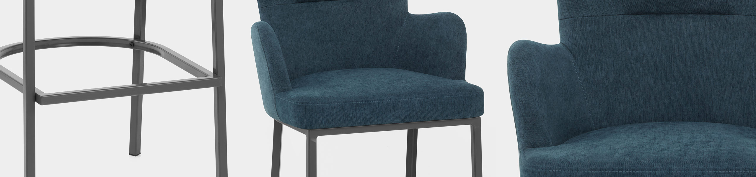 Porter Bar Stool Blue Fabric Video Banner