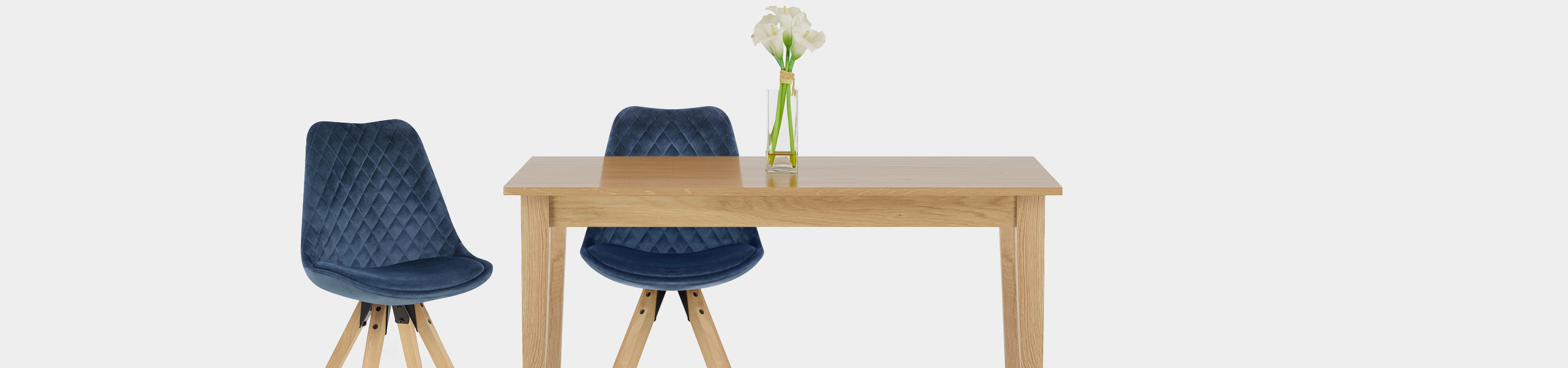 Prism Dining Chair Blue Velvet Video Banner