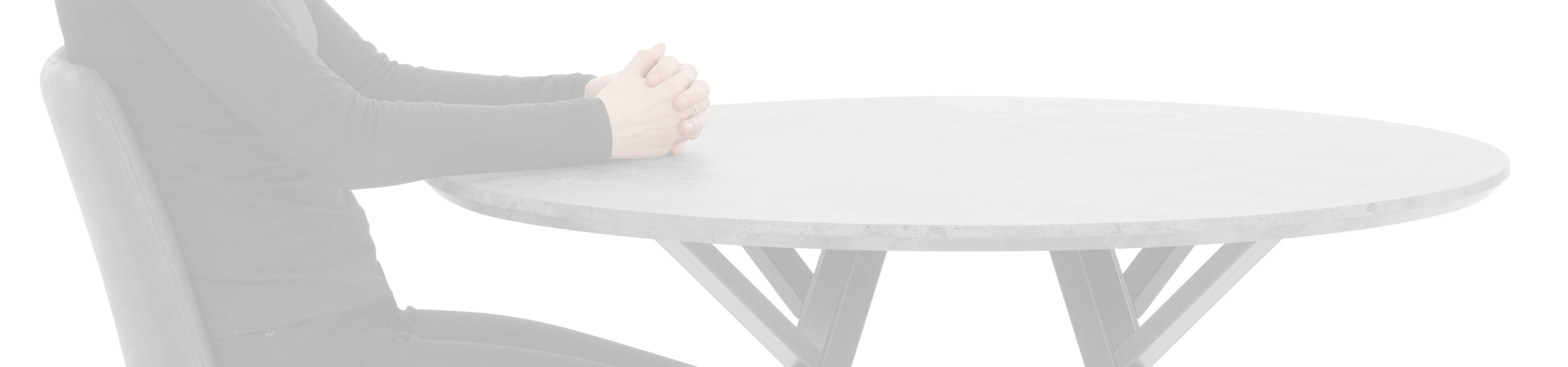 Quest 100cm Dining Table Concrete Review Banner