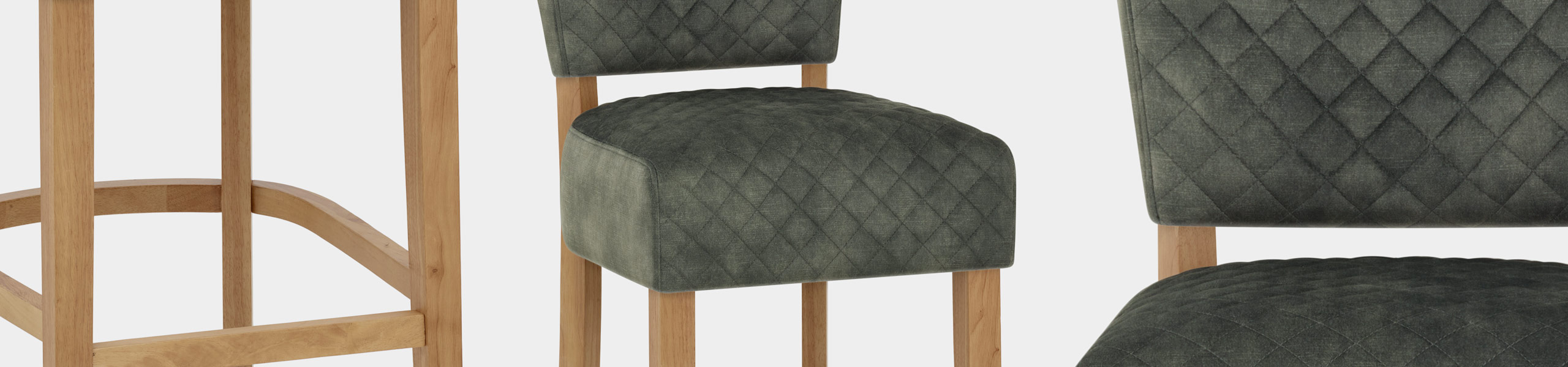 Ramsay Oak Bar Stool Green Velvet Video Banner
