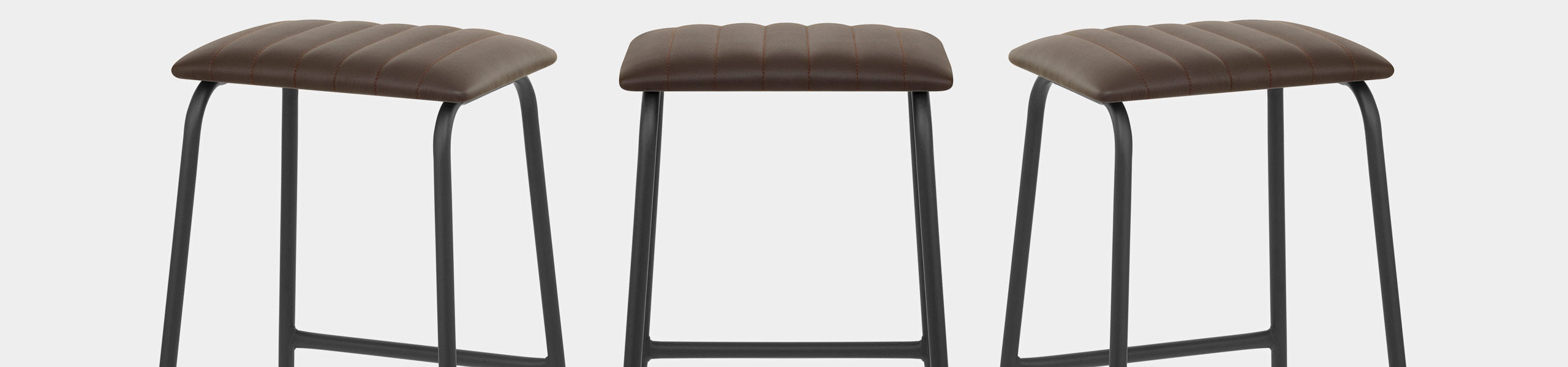 Sasha Real Leather Stool Brown Video Banner