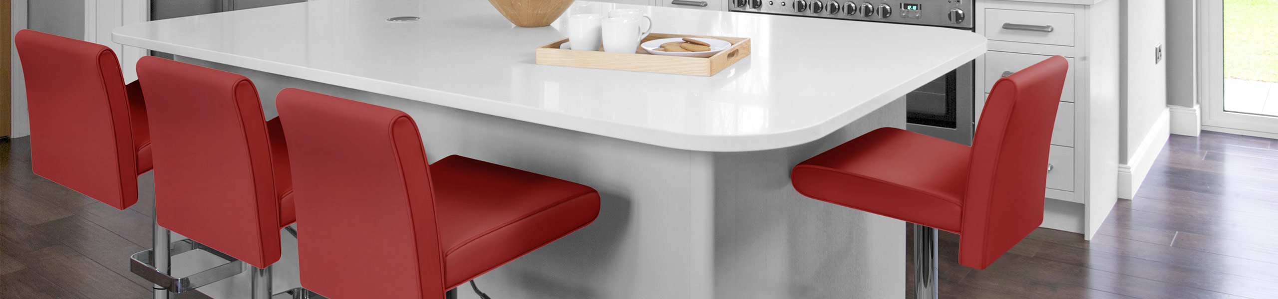 Siena Bar Stool Red Video Banner