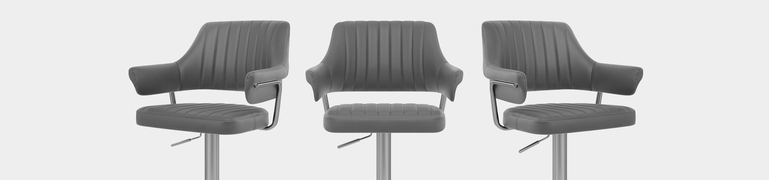 Skyline Brushed Bar Stool Charcoal Video Banner
