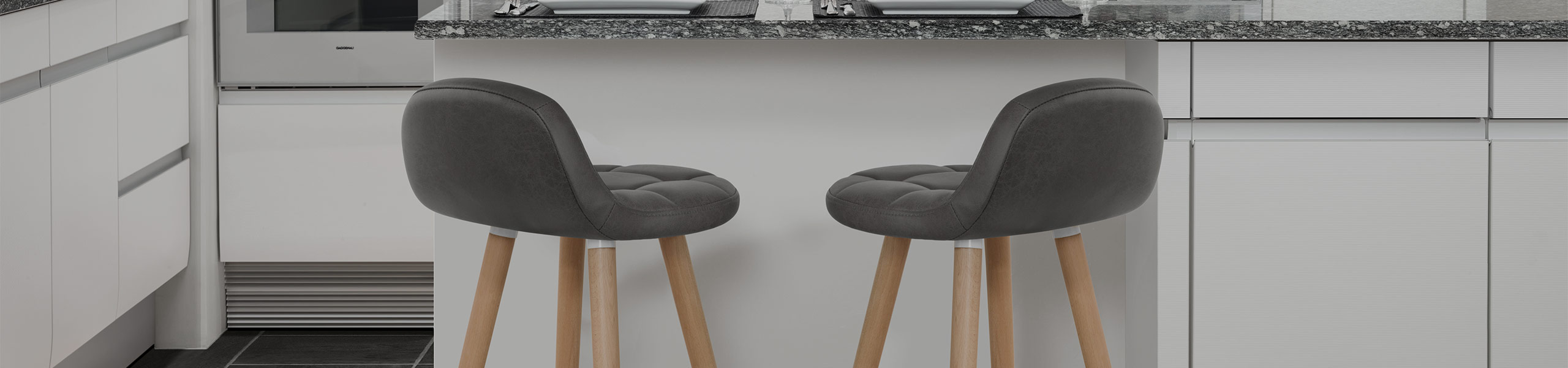 Sole Wooden Stool Grey Video Banner