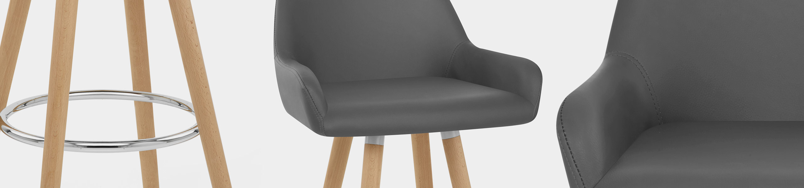 Solo Wooden Bar Stool Grey Video Banner
