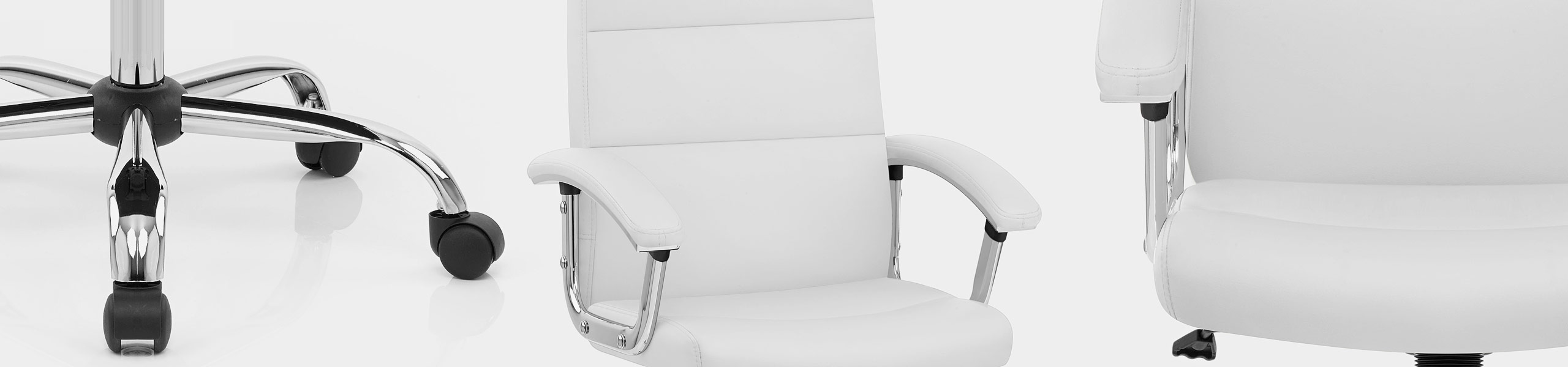 Stanford Office Chair White Video Banner