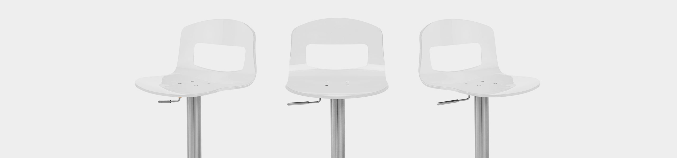Stardust Brushed Steel Bar Stool White Video Banner