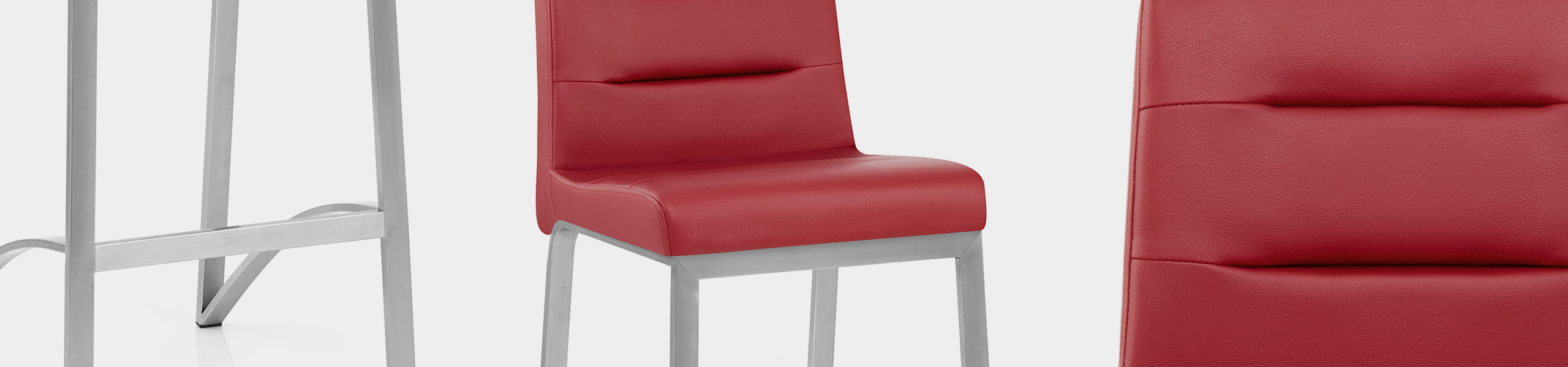 Stella Brushed Steel Stool Red Video Banner