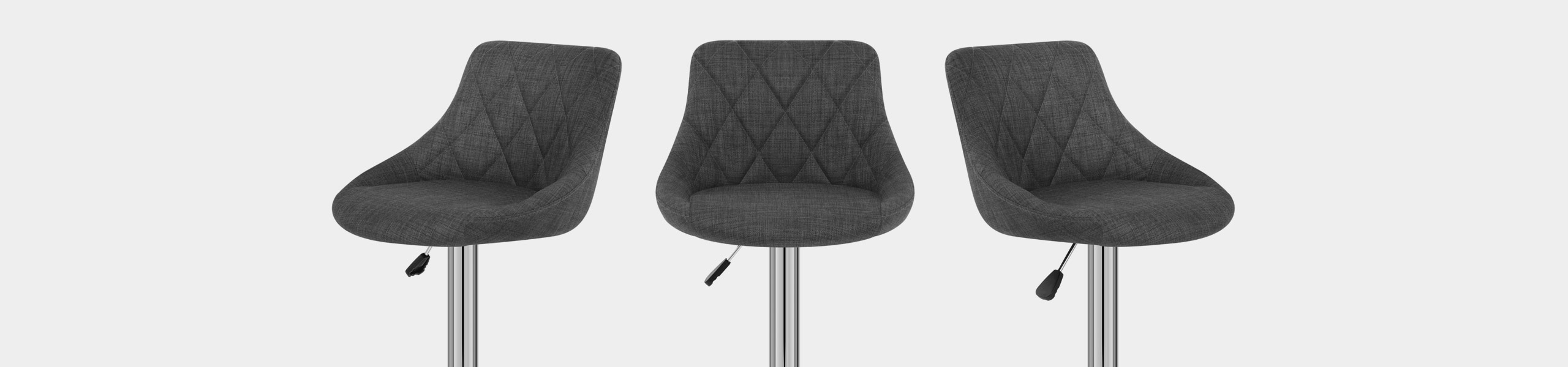 Stitch Bar Stool Charcoal Fabric Video Banner