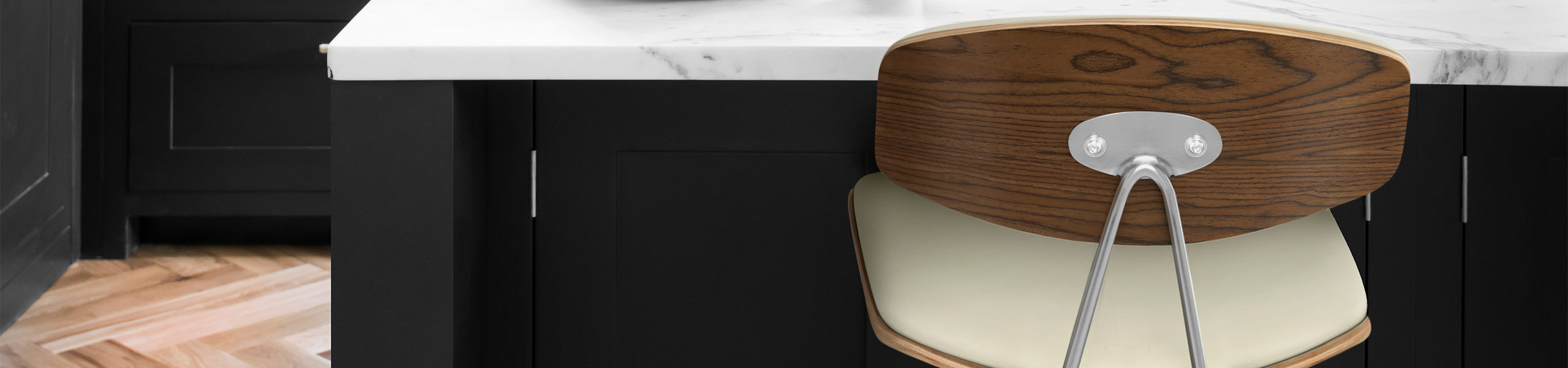 Strada Walnut Bar Stool Cream Video Banner