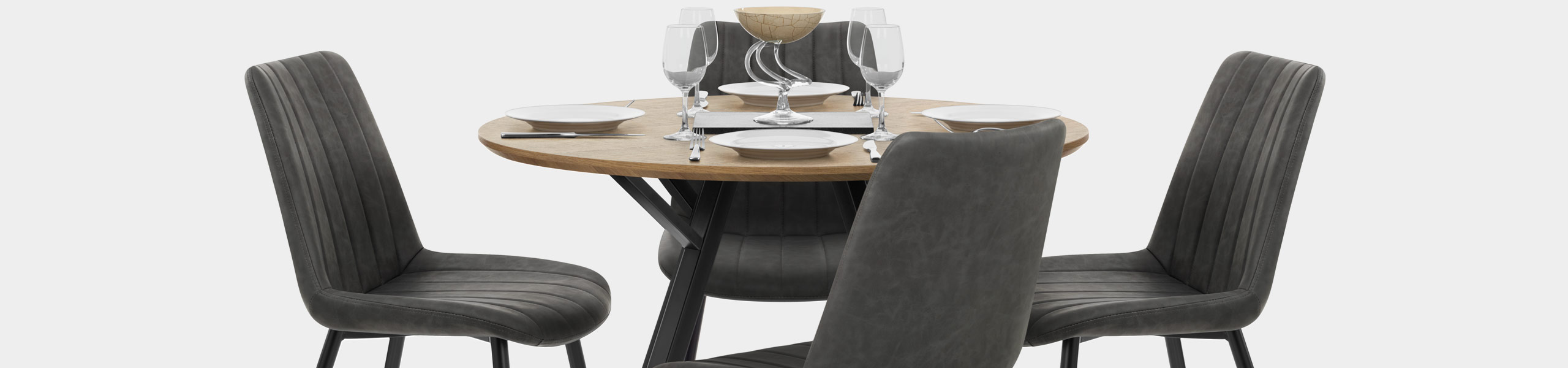 Sussex Dining Set Oak & Charcoal Video Banner