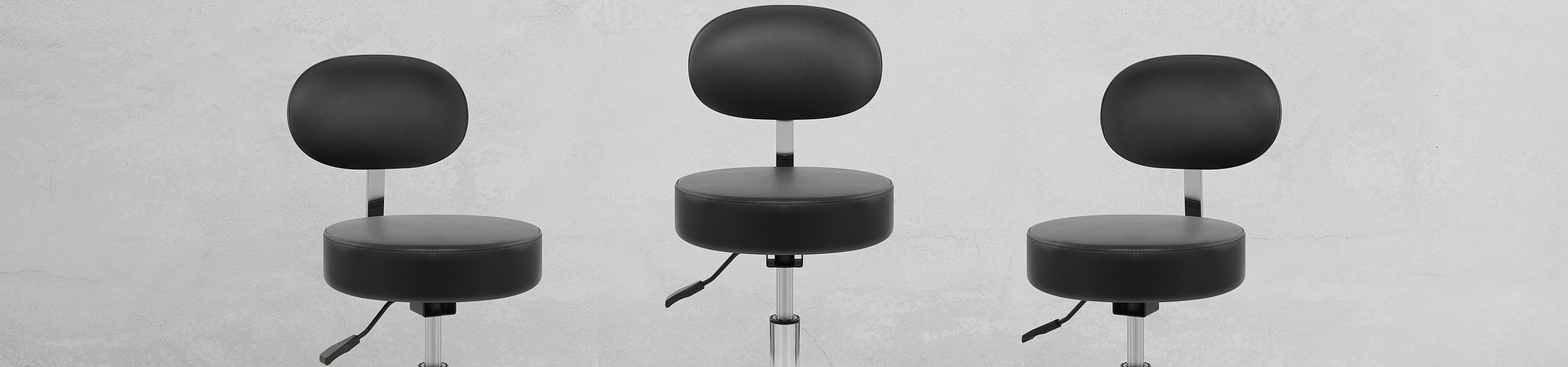 Swivel Stool With Back Black Video Banner