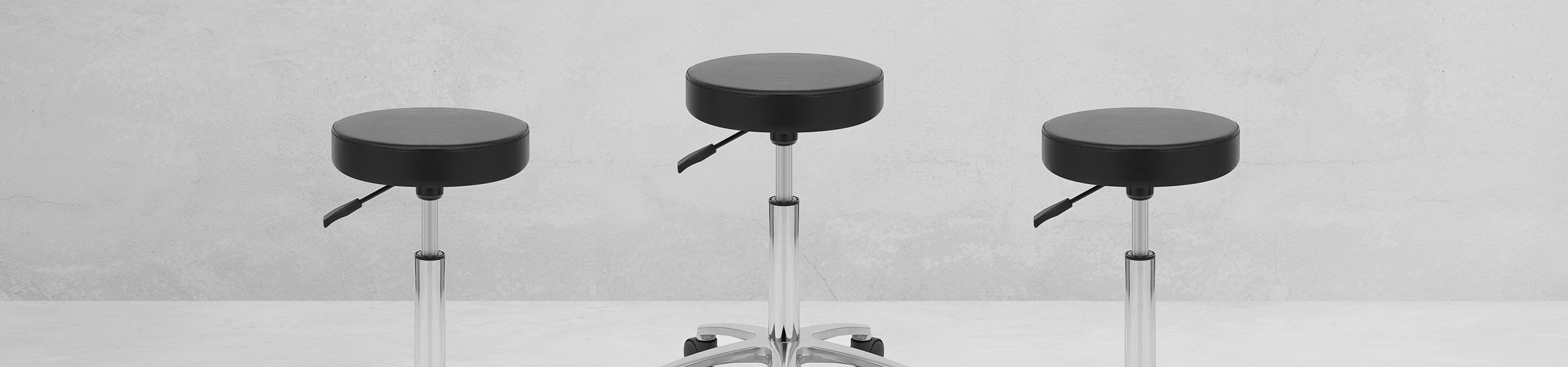 Swivel Stool With Wheels Black Video Banner