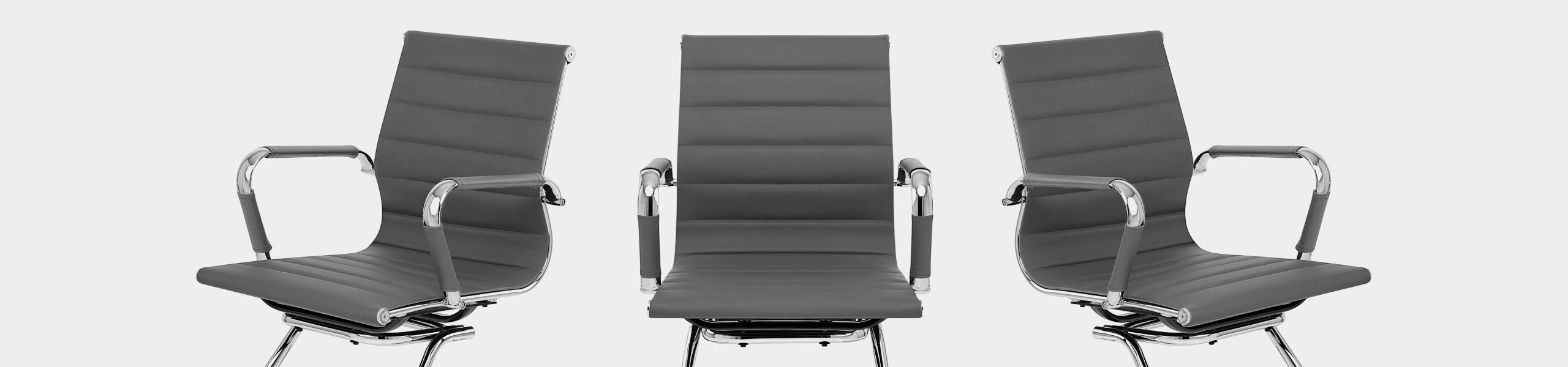 Task Office Chair Grey Video Banner