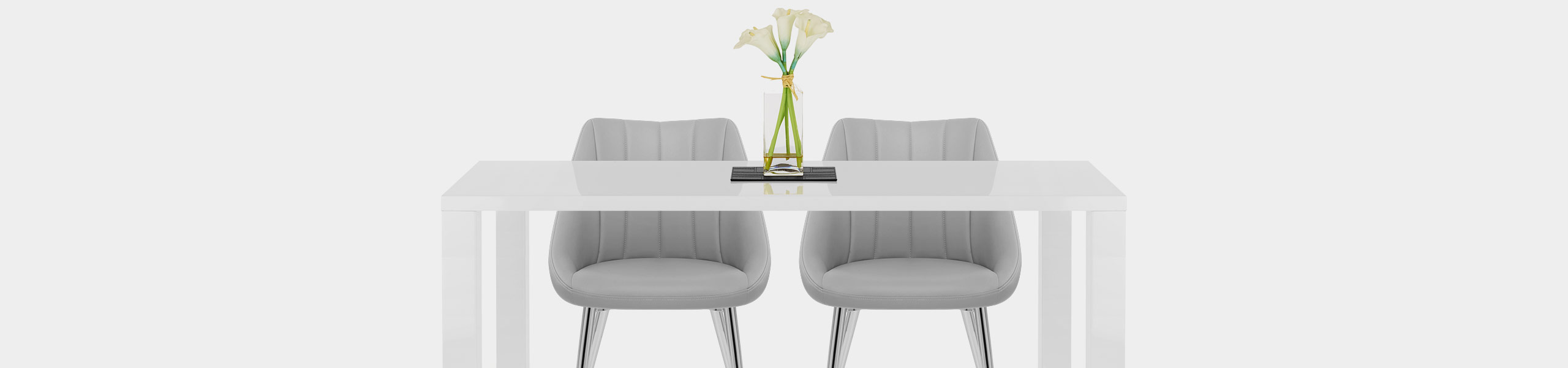 Tempo Dining Chair Light Grey Video Banner