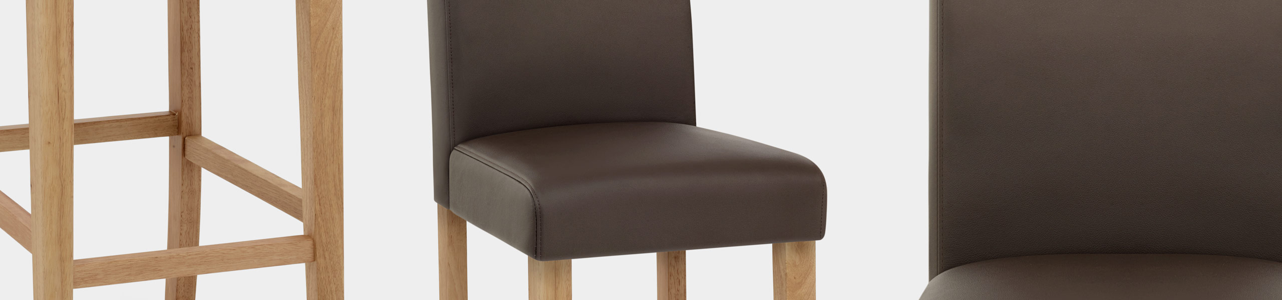 Tetbury Oak Bar Stool Brown Leather Video Banner