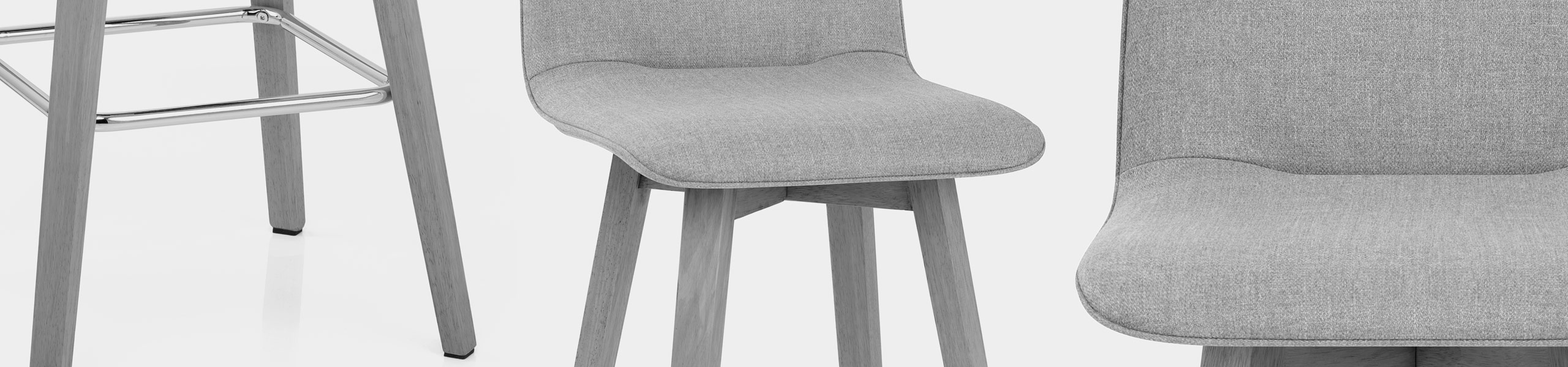Tide Grey Wood Stool Grey Fabric Video Banner