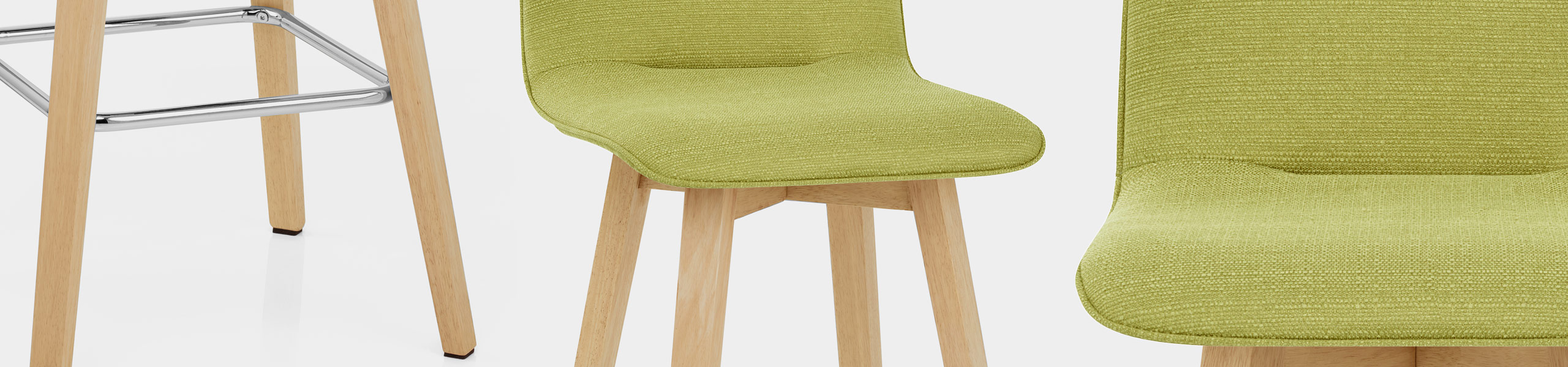 Tide Wooden Stool Green Fabric Video Banner