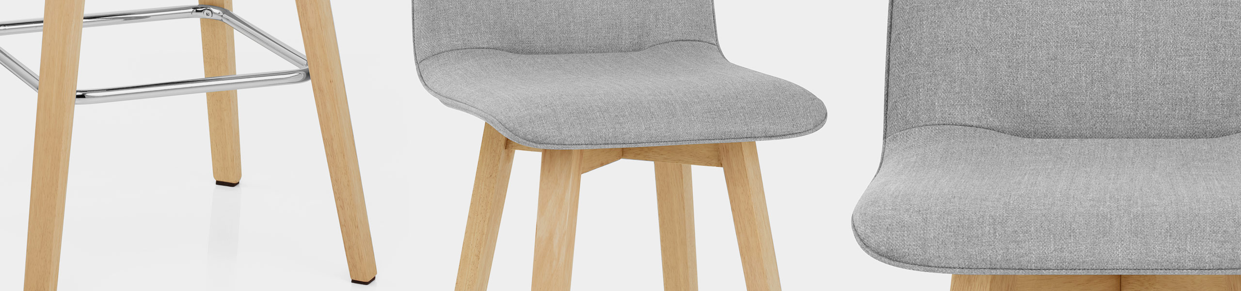 Tide Wooden Stool Grey Fabric Video Banner