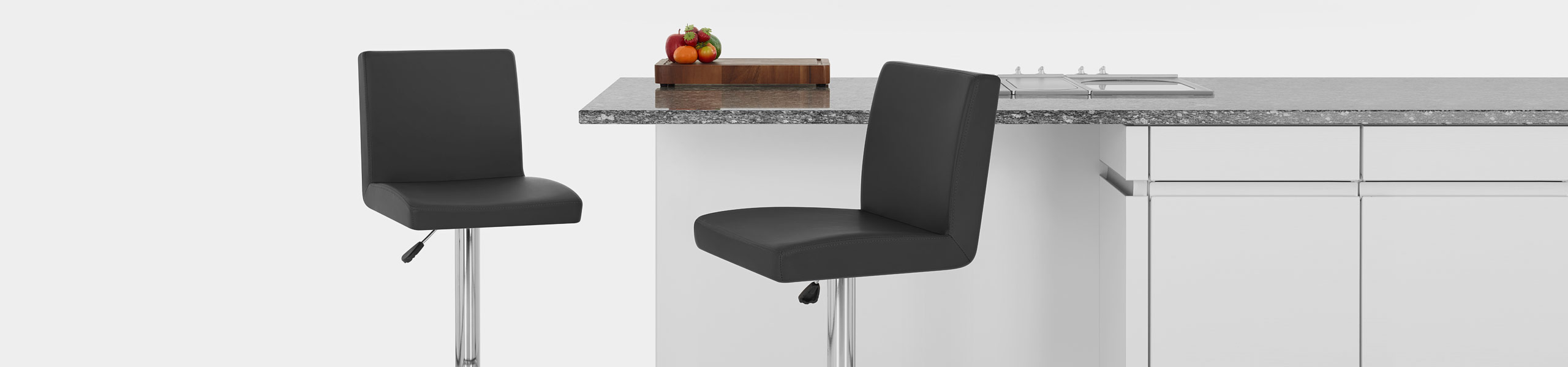 Topaz Bar Stool Black Video Banner