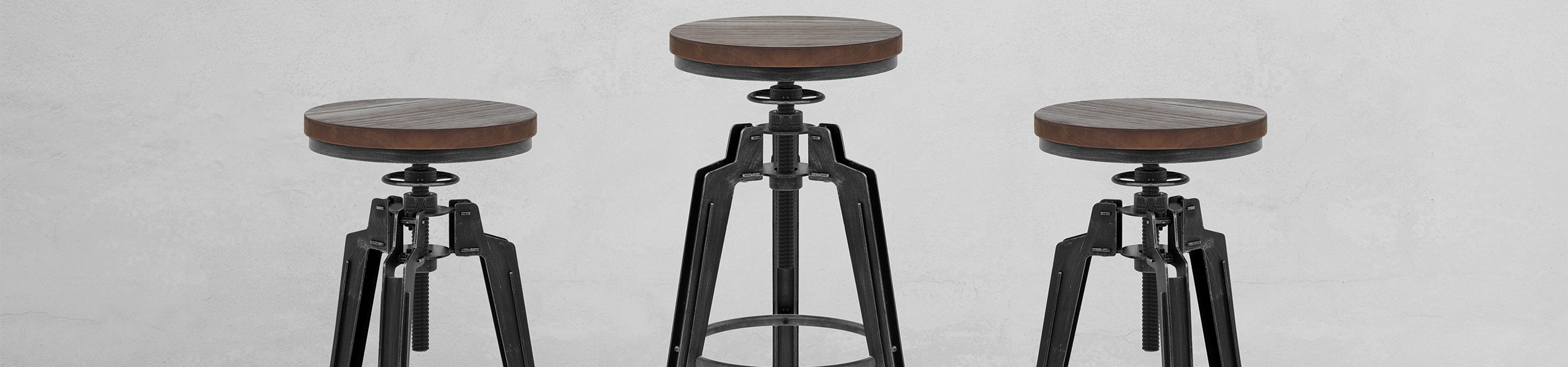 Trio Stool Gunmetal Video Banner