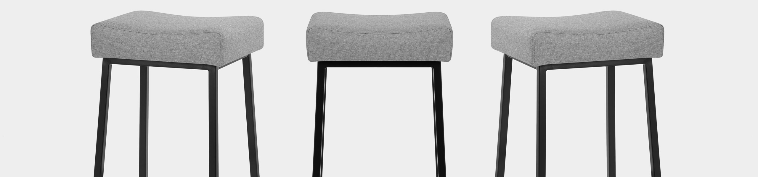 Uno Bar Stool Light Grey Fabric Video Banner