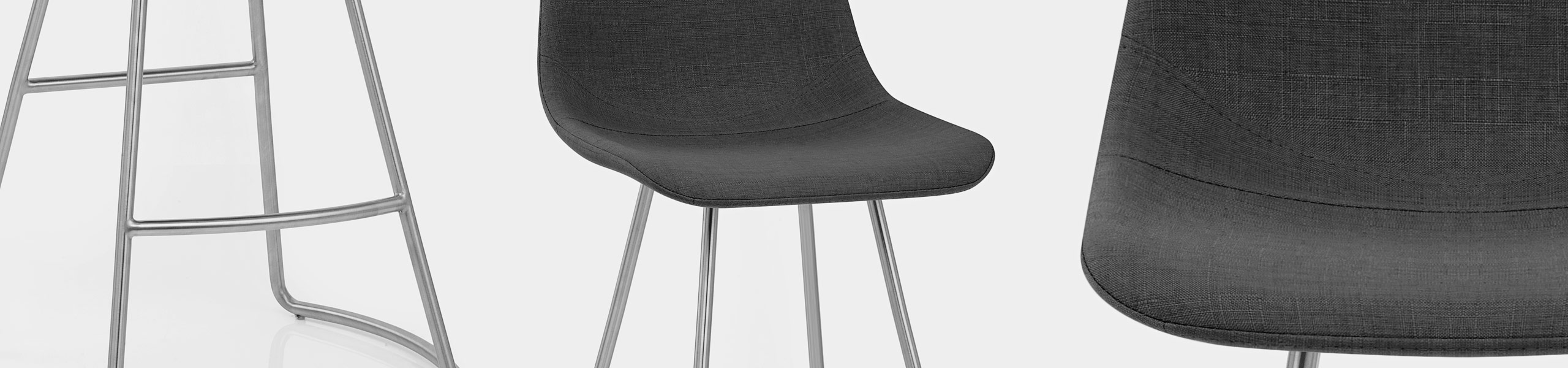 Vibe Brushed Stool Charcoal Fabric Video Banner