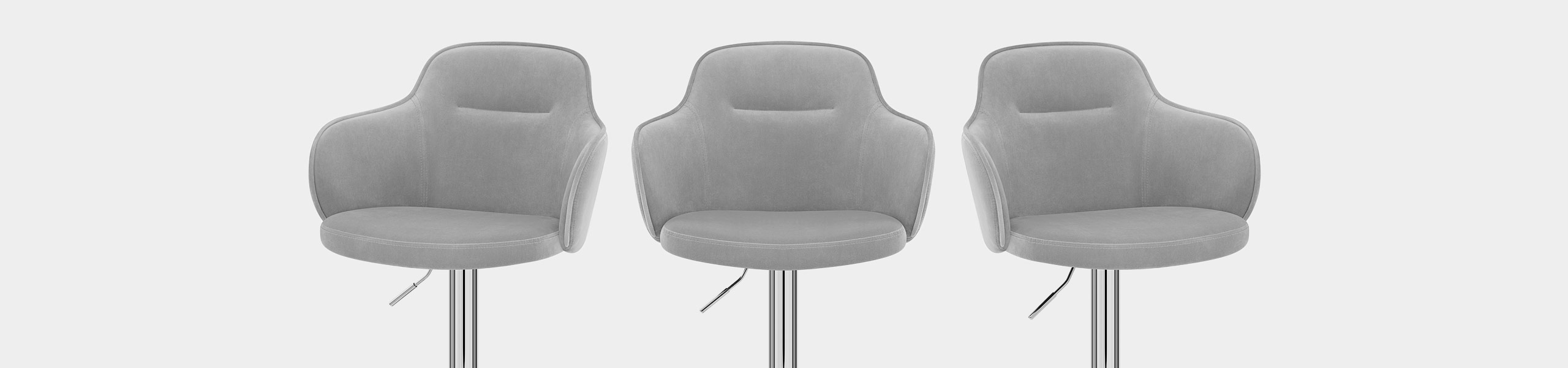 Vista Bar Stool Grey Velvet Video Banner