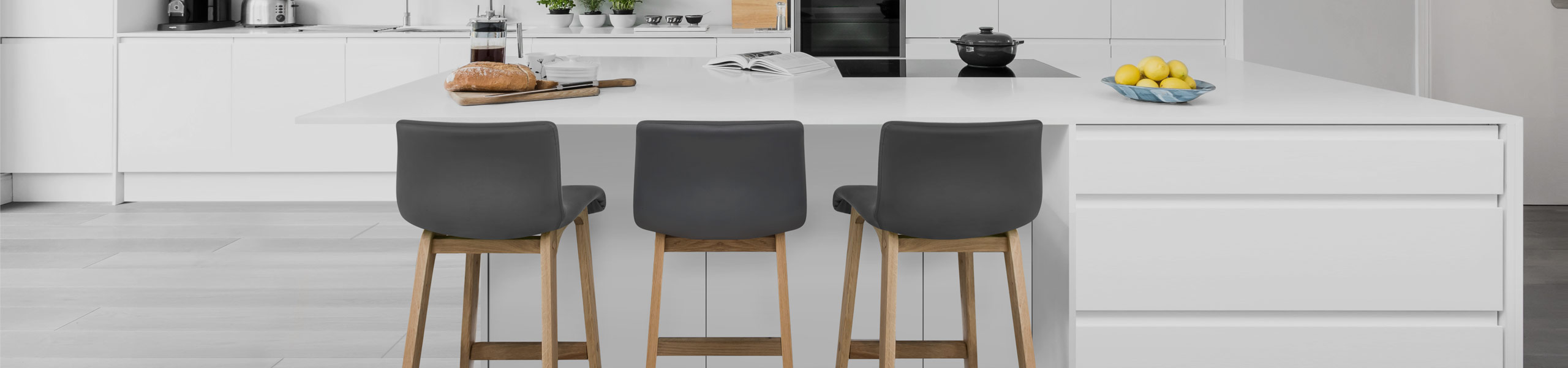 Wave Bar Stool Grey Video Banner
