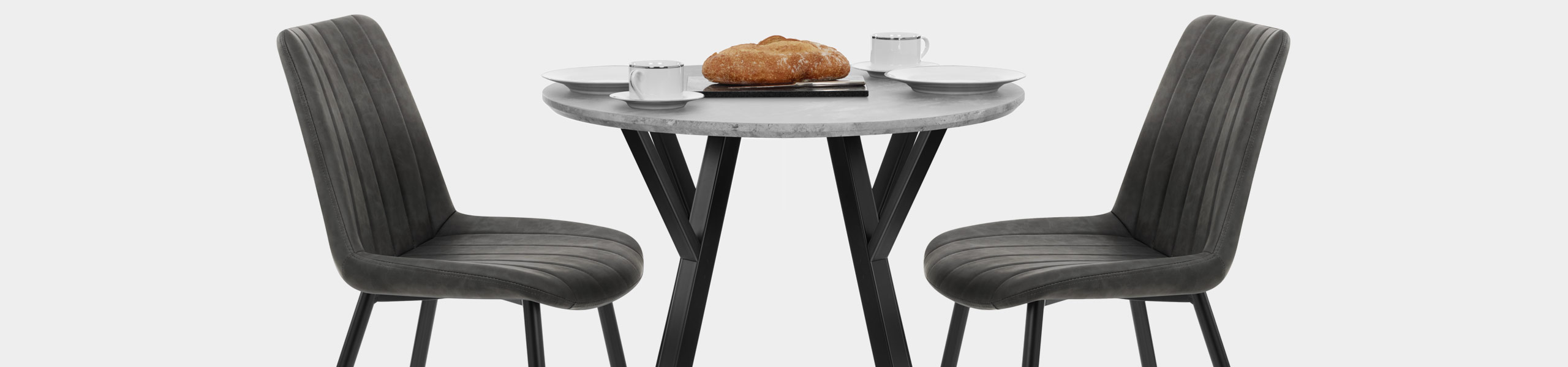 Wessex Dining Set Concrete & Charcoal Video Banner