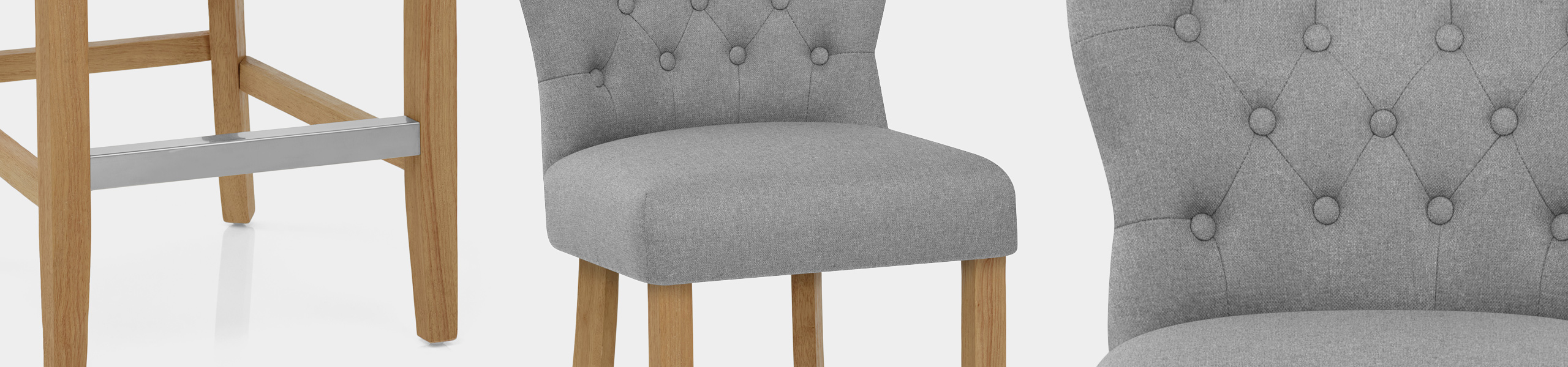 Windsor Bar Stool Grey Fabric Video Banner