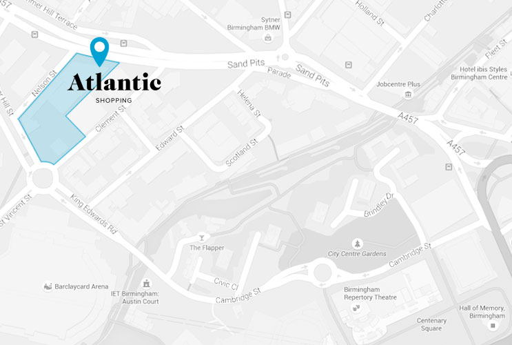 Atlantic Shopping location Map