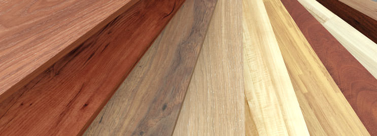 Light, Dark and Medium Wood Swatches for Furniture Design